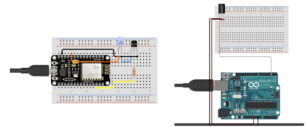 Circuits of IoT Smart AC Controller