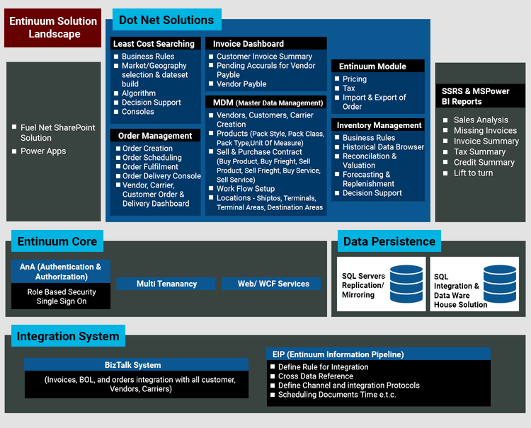 Solution Architecture for Entinuum