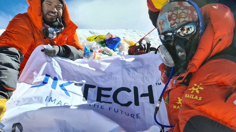 JK Tech Unveils Its New Logo at Mt. Everest